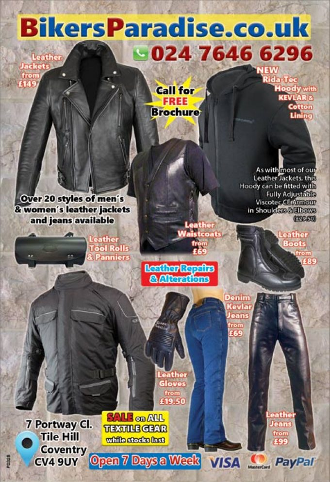 Motorcycle clothing from a company with 40+ years experience. Top service and value for money.